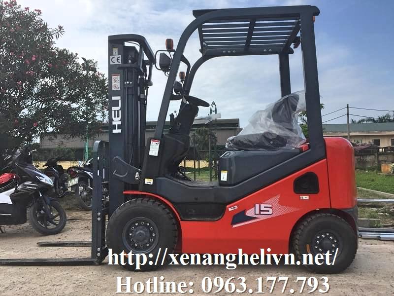 Xe nâng 1-1.8 tấn - Xe nâng dầu 1.5 tấn
