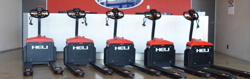 Xe nâng tay điện thấp CBD15-170J Heli giá rẻ