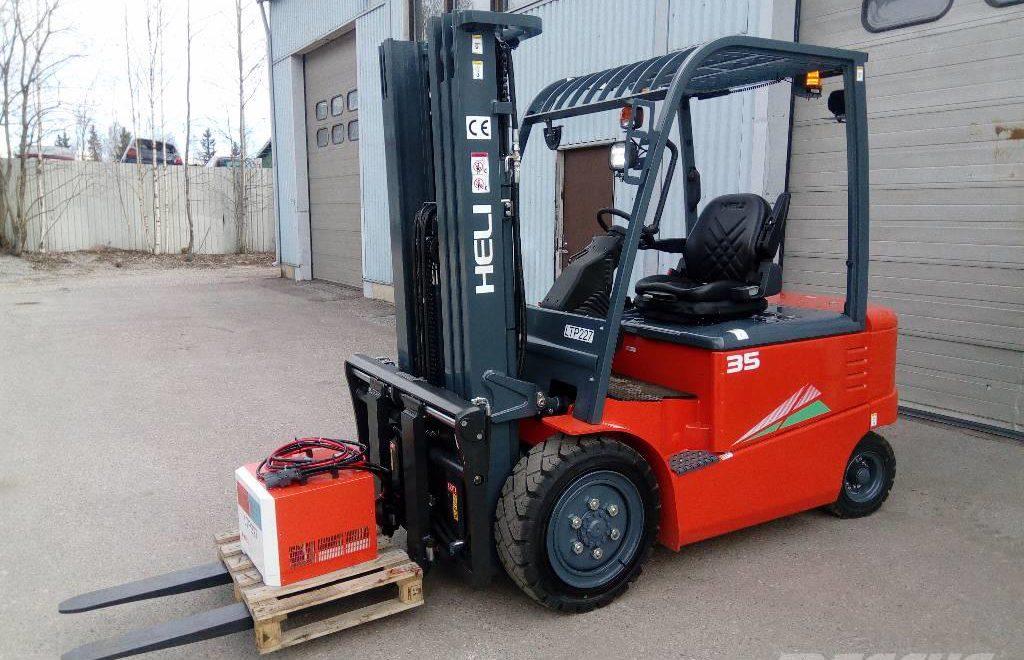 Xe nâng điện 3-3.5 tấn- 4 bánh ngồi lái
