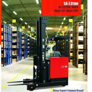 Xe nâng reach truck ngồi lái 1.6 - 2 tấn