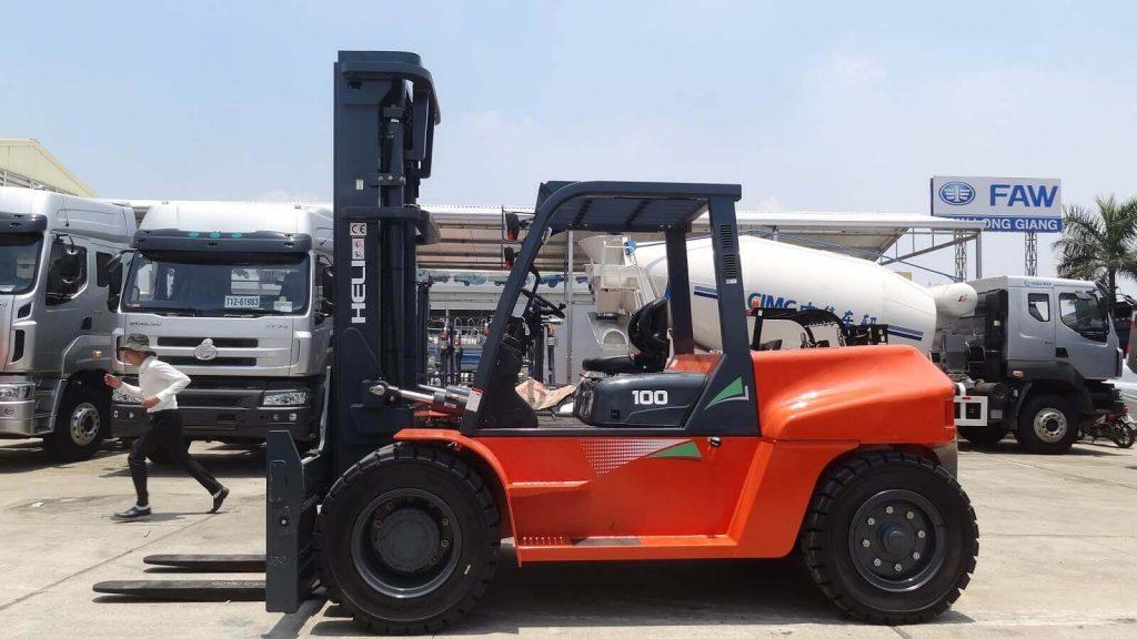 Xe nâng diesel 10 tấn Heli