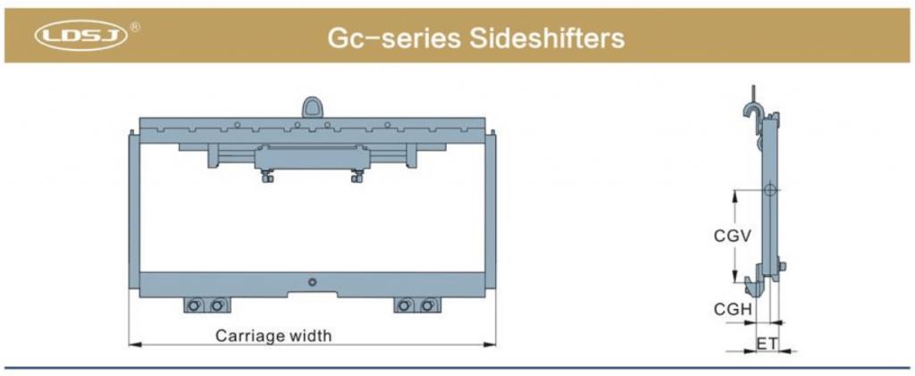 Bộ dịch giá nâng Sideshifter trên xe nâng Heli