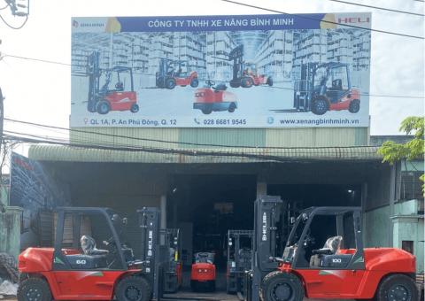 Kho xe nâng Bình Minh Miền Nam