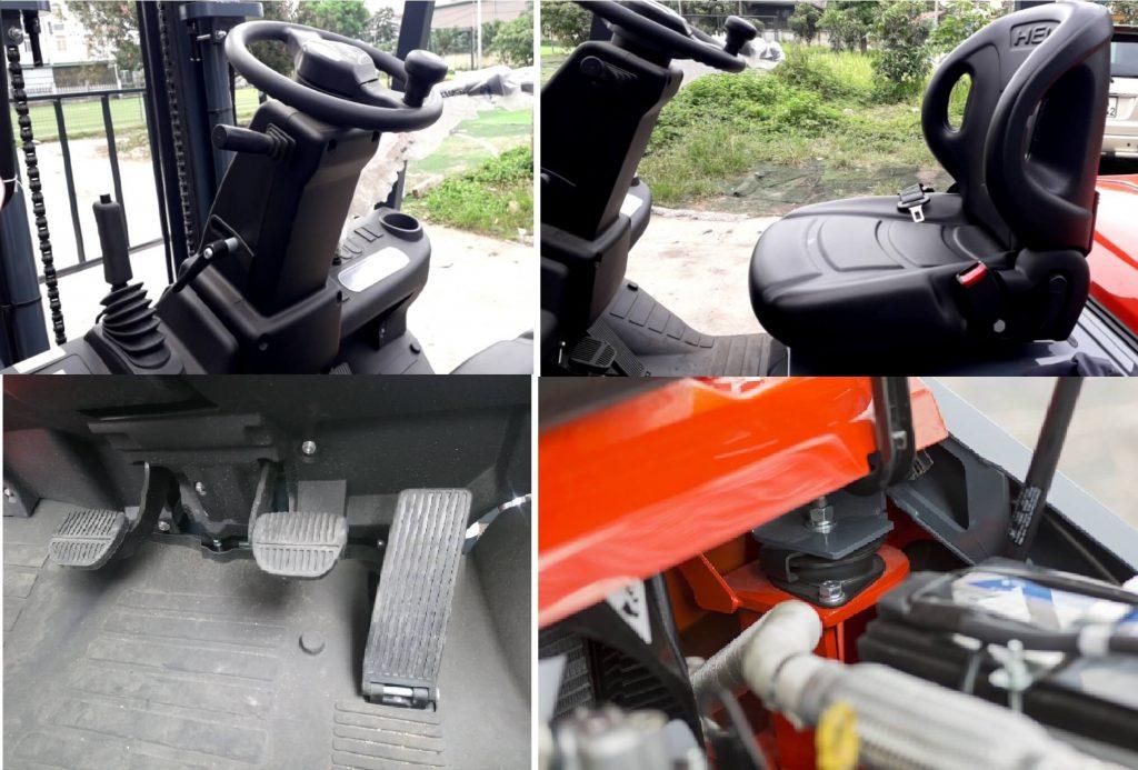 Nội thất xe nâng chạy xăng Heli 2.5 tấn H3-Series